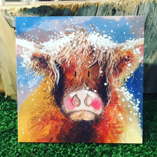 Christmas Highland cow